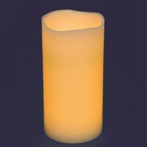 Candela Ø10cm Avorio 2 LED CLASSIC effetto Fiamma a Batteria H20cm