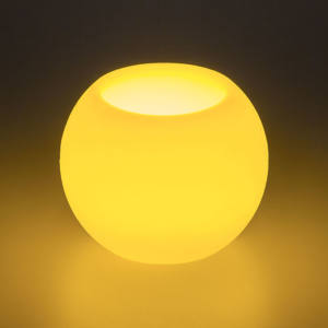 Candela Sfera Ø7,5cm Avorio LED Classic effetto Fiamma a Batteria H6cm