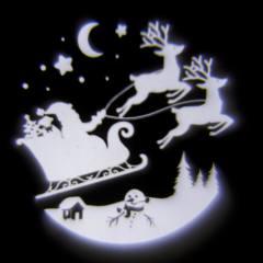 Proiettore Babbo Natale con Slitta Volante 1x1W LED Bianco 4,2 V Esterno
