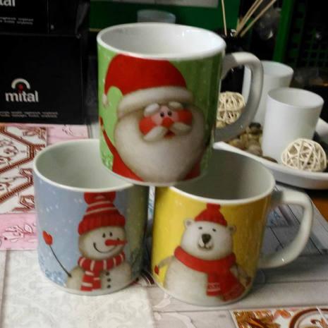 Tazza mug in porcellana Decori Assortiti 360 cc NATALE