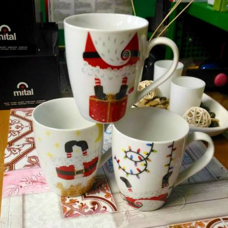 Tazza mug in porcellana Home Decori Assortiti 360 cc NATALE