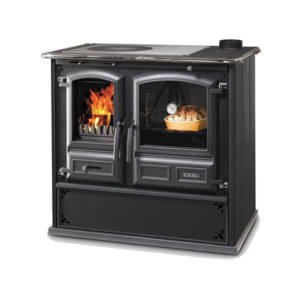 Cucina a Legna REGINA 631 Steel DAL ZOTTO Antracite 8,2 KW