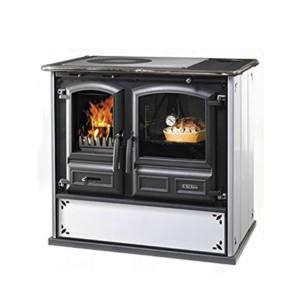 Cucina a Legna REGINA 631 Steel DAL ZOTTO Bianco Puntinato 8,2 KW