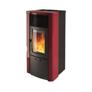 Stufa a Pellet Noemi Elite Steel DAL ZOTTO Bordeaux 12 KW