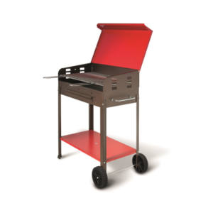 Barbecue VANESSA Con Ruote e Supporto 35X60X80 cm Artigian Ferro