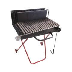 Barbecue legna 50X64X78 cm griglia inox raccogli grasso Pegoraro Angelo
