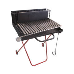 Barbecue legna 70X66X78 cm griglia inox raccogli grasso Pegoraro Angelo
