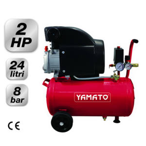 COMPRESSORE CARRELLATO 24/2 M1CD 24 Litri 2 HP 8 Bar Yamato