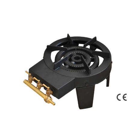 FORNELLONE GAS GHISA 4 PIEDI 3 RUBINETTI 32x38x19 cm Papillon