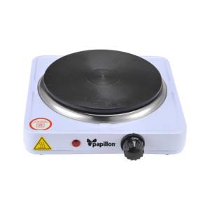 Fornello elettrico termostato regolabile 1 piastra Ø 185 mm 1500 W papillon