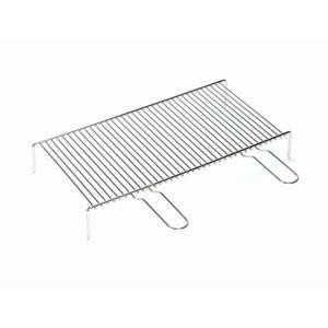 Griglia doppio manico semplice filo di acciaio cromato 50×35 cm Ferraboli