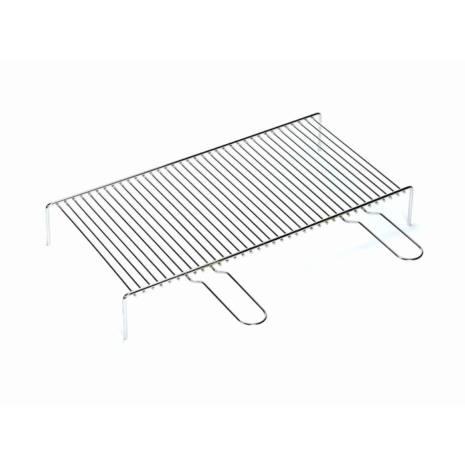 Griglia doppio manico semplice filo di acciaio cromato 60×35 cm Ferraboli