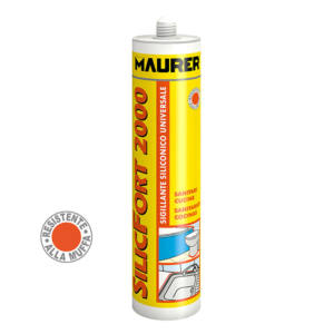 Silicone Sigillante Acetico SILICFORT 2000 Trasparente 280 ml MAURER