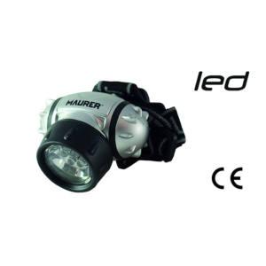 TORCIA DA TESTA LED con banda elastica 25 Lumen Maurer
