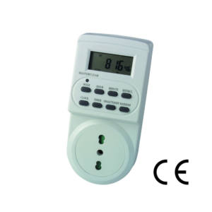 Timer Digitale programmabile Display Lcd Spina 16 A presa Schuko Maurer