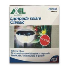 LAMPADA SOLARE CLASSIC GIARDINO ALTEZZA 18 CM AXEL