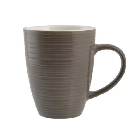 Set 2 Tazze Mug Marroni in ceramica 320 cc Good Morning H&H