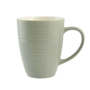 Set 2 Tazze Mug Verdi in ceramica 320 cc Good Morning H&H