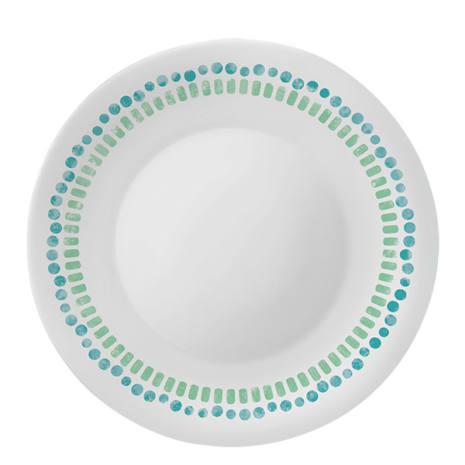 Set Piatti 18 pezzi Vetro Opale Decorato Mediterraneo Bormioli Rocco