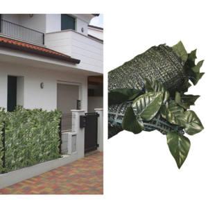 Siepe Artificiale Foglie Lauro Mix 150 X 300 cm con rete ombreggiante Axel