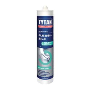 Sigillante acrilico flessibile PROFESSIONALE 300 ml Bianco TYTAN
