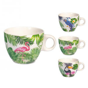 Tazza tè in porcellana New Bone China 230 ml Tropical H&H