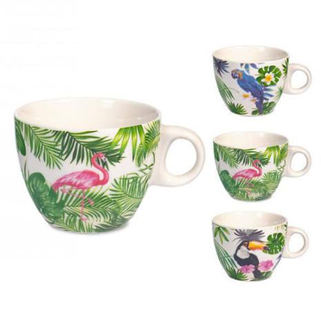 Tazza tè in porcellana New Bone China 230 ml Tropical H&H