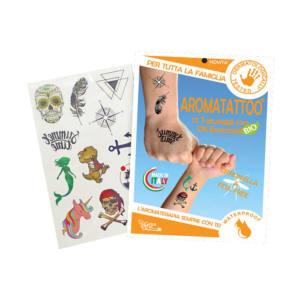 12 Tatuaggi Temporanei a Base di Citronella e Geranio Aromatattoo Gisa