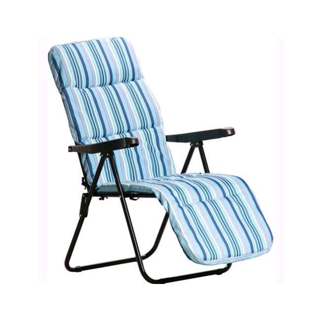 Sedia A Sdraio Con Poggiapiedi.Sedia Sdraio Imbottita Multiposizione Con Poggiapiedi Pieghevole Papillon