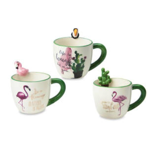 TAZZA Colazione RIO JUNGLE Decori Floreali Tropicali Assortiti