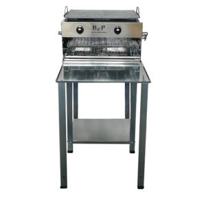 BARBECUE GAS INOX BIG SQUALO Con STOP GAS e KIT RUOTE BEP