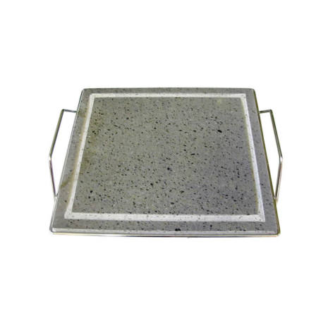 PIASTRA LAVICA 300X400X20 mm Con SUPPORTI BARBECUE BEP