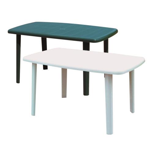 Tavolo Giardino Plastica Bianco.Tavolo Giardino Plastica Cayman 85x137x72 Cm Bianco