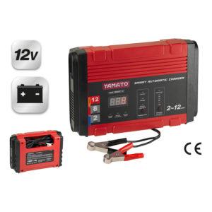 Caricabatterie e Mantenitore Display LCD 12v 2-12A SMART 12 YAMATO