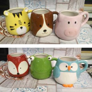 Mug a forma vari animali in porcellana 300 cc Home