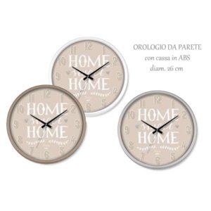 Orologio da parete rotondo cassa ABS Home Sweet Home Ø 26 cm
