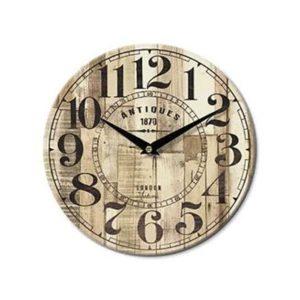 Orologio da parete rotondo legno decoro vintage Ø 28 cm
