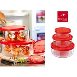 Set 3 contenitori Frigo Box Freezer Ø 12-15-18 cm Bormioli Rocco