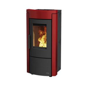 TERMOSTUFA A PELLET WANNA IDRO DAL ZOTTO BORDEAUX 13,1 KW