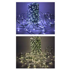 300 MICRO LED LUCE Chiara o Sunny 12V IP44 30 + 3 Metri 8 Funzioni