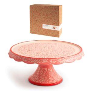Alzata tonda in Stoneware decorato Madame H&H 24x12 CM