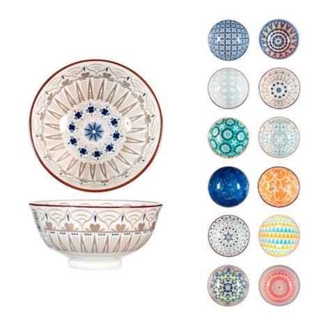 Ciotola Full Decoration in porcellana decori assortiti ø 12 cm H&H