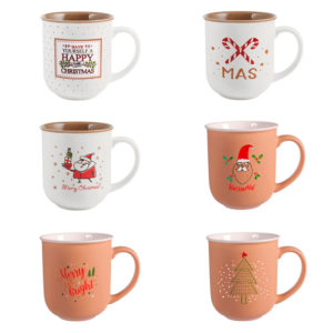 Mug XMas in Porcellana NBC H&H 380 ml Decori Assortiti
