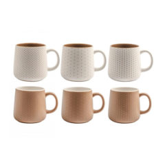 Tazza Mug Cinnamon H&H in Porcellana NBC 350 ml decori assortiti