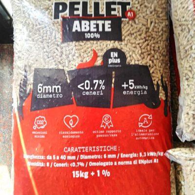 Vendita Pellet Alta Qualità 100% Abete Classe A1 Bovolone Verona