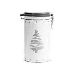 Barattolo Biscotti in latta decoro Natale 13x19 cm H&H