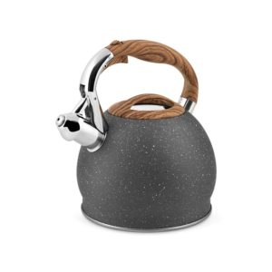 Bollitore inox con fischio granito grigio 2,5 litri H&H