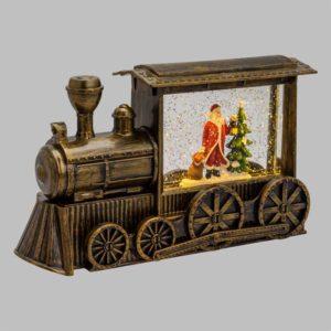 Lanterna Locomotiva Glitter 29x17 cm Led bianco caldo