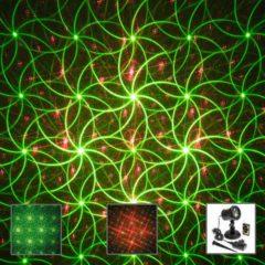 Proiettore Garden Laser Verde Rosso Effetto Movimento telecomando timer