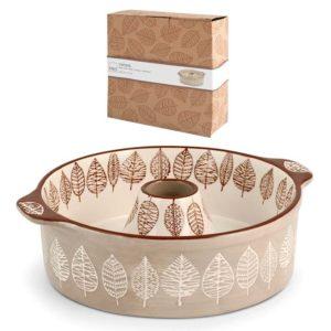 Tortiera Ciambella in Stoneware decorato Michelle H&H 22x7 cm